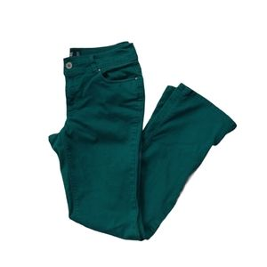 Point Zero Boot Cut Forest Green Jeans, 8/9